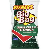Vitner Sour Cream 'N Onion Potato Chips Big Bag, 8.75 Oz.