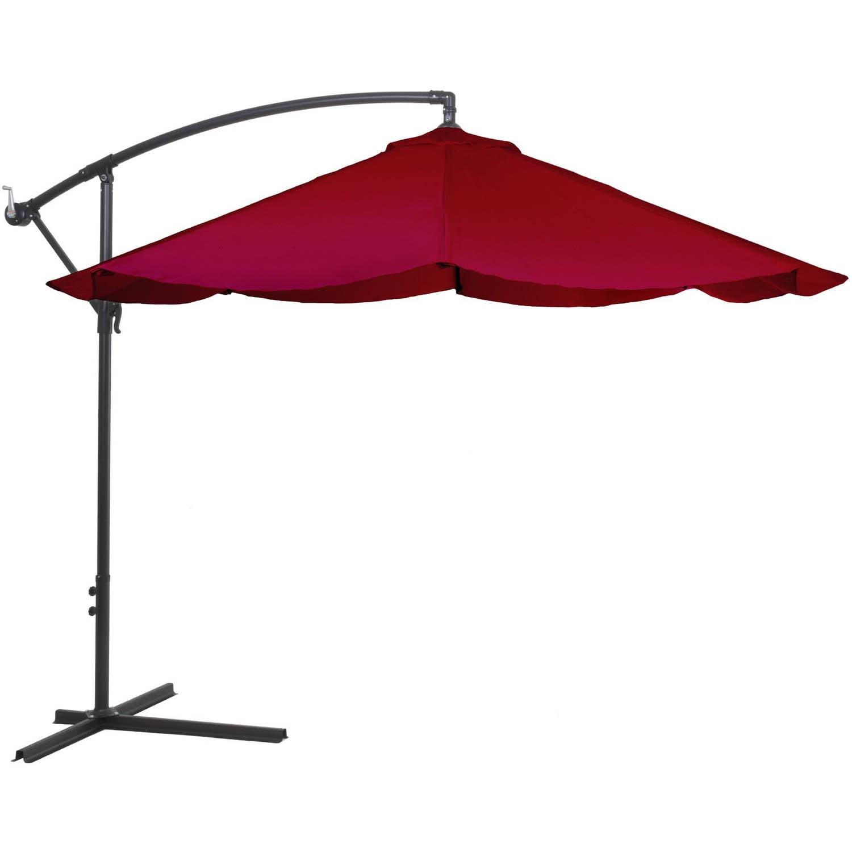 Pure Garden Offset 10u0027 Aluminum Hanging Patio Umbrella   Walmart.com