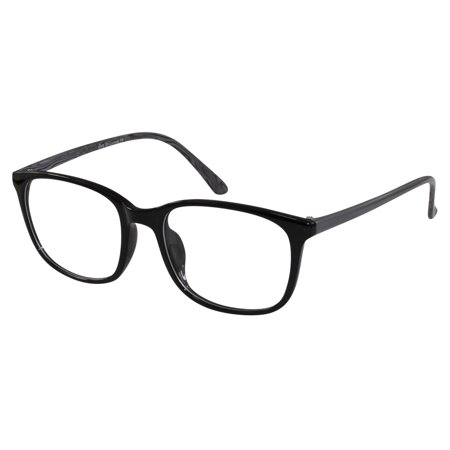Glasses Men Women RX Round Black Grey Nerdy Retro Eye Flex Frame ...