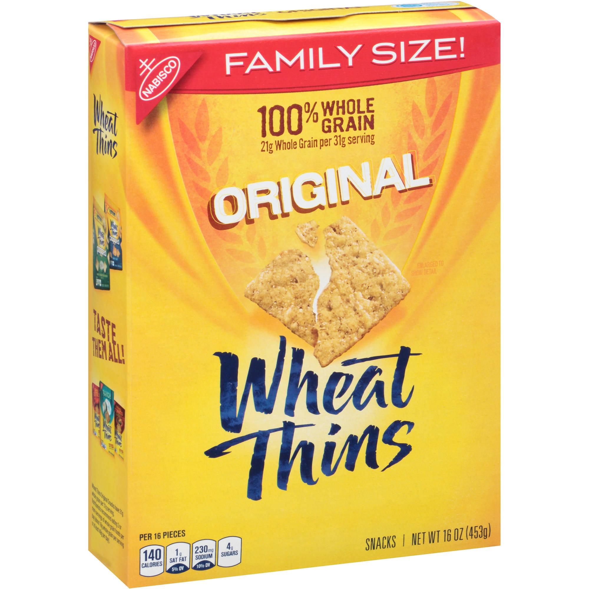 Nabisco Wheat Thins Original Snacks, 16 oz