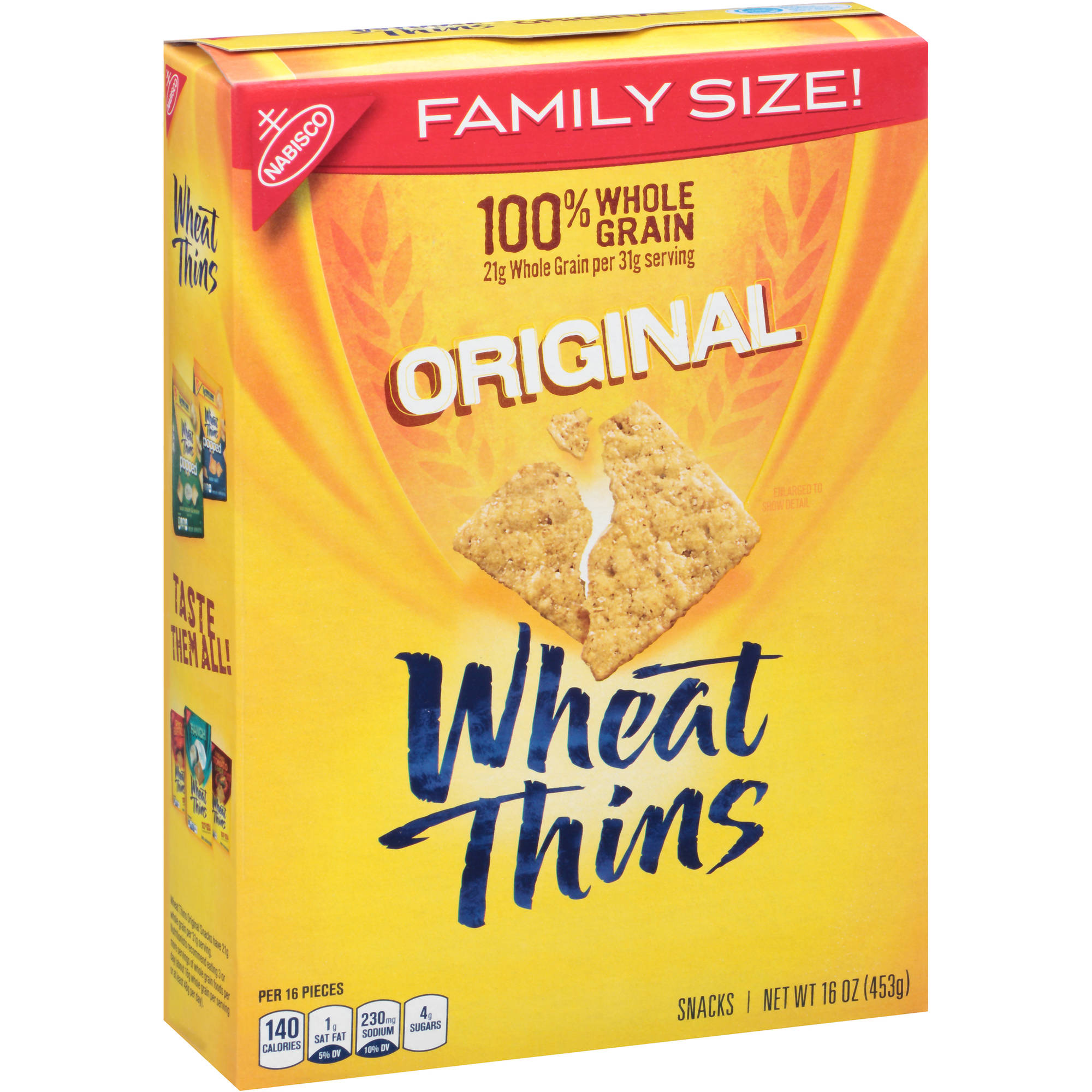 Nabisco Wheat Thins Original Snacks, 16 oz