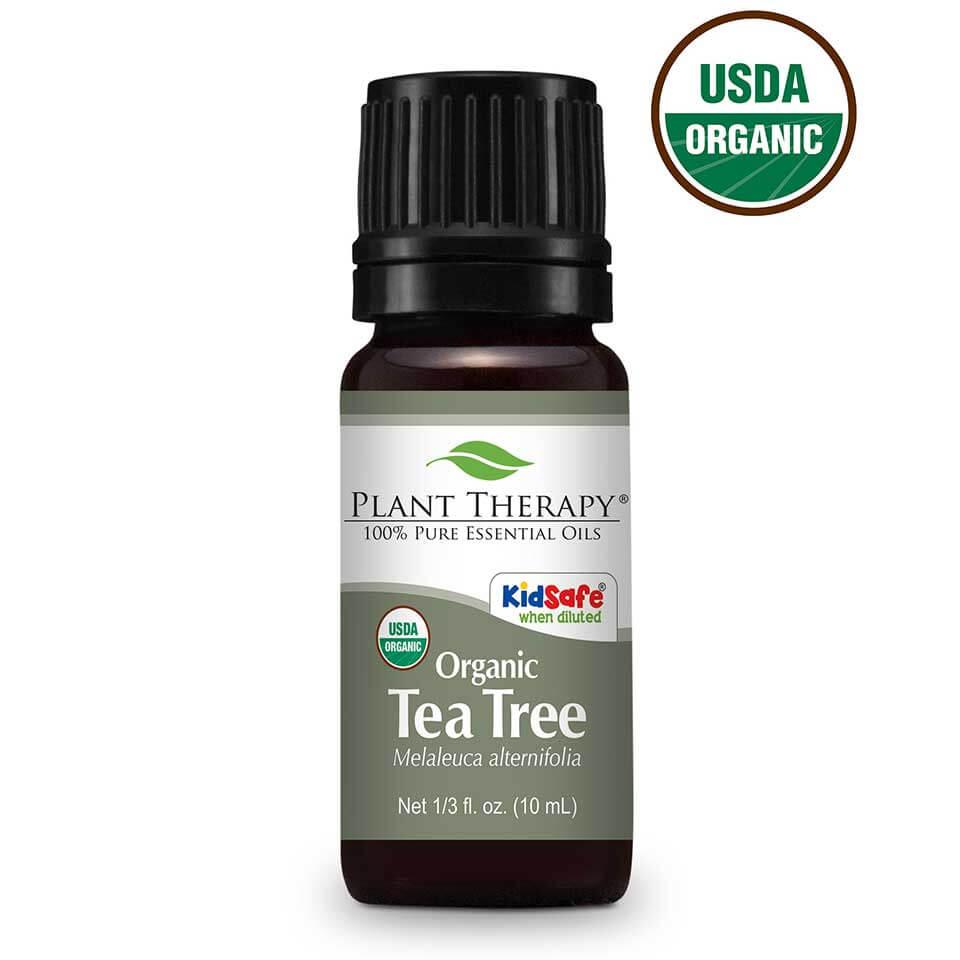 Plant Therapy Organic Tea Tree Melaleuca Essential Oil 10 mL (1/3 fl. oz.) 100% Pure, Undiluted, Therapeutic Grade