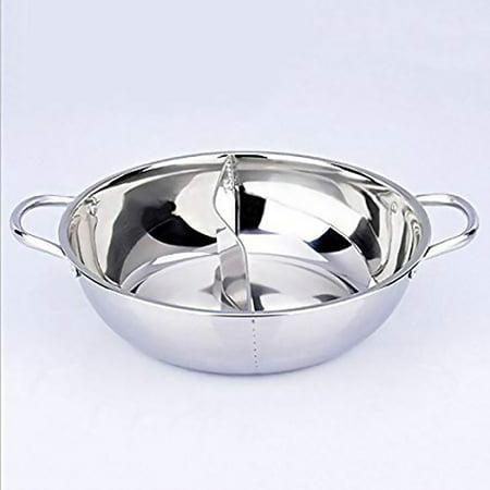 JOYFEEL Dual Sided Stainless Cookware Hot Pot Yuanyang Pot Shabu Shabu Yin Yang Chafing Dish