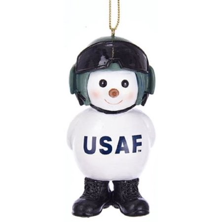 United States Air Force Snowman Christmas Tree Ornament Military USAF AF2171 New