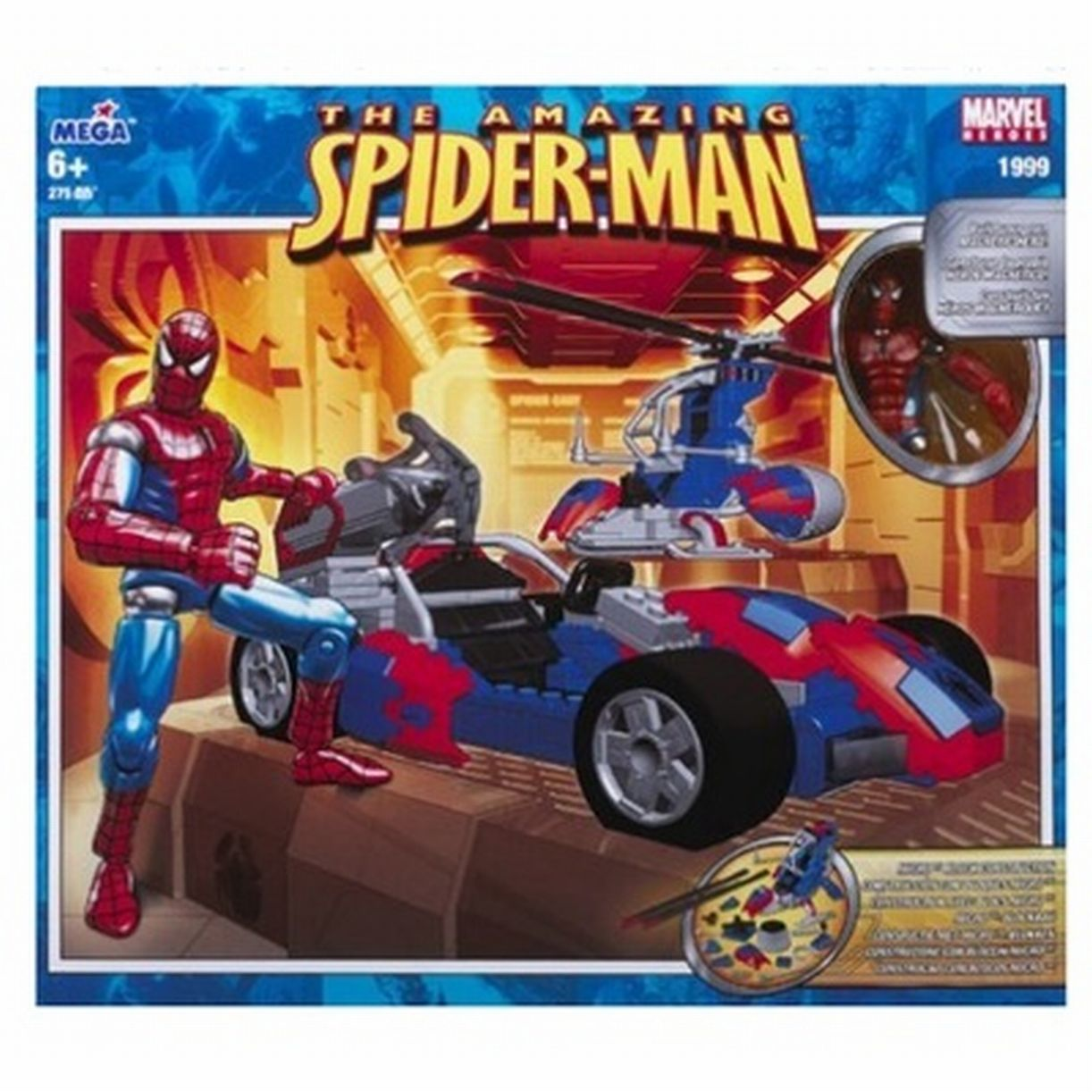 Mega Bloks Spiderman Magnetic Spider-Man Vehicle Build