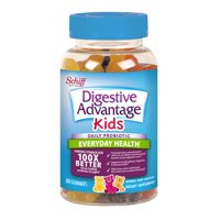 Digestive Advantage Kids Daily Probiotic Gummies, Natural Fruit Flavors - 80 Gummies