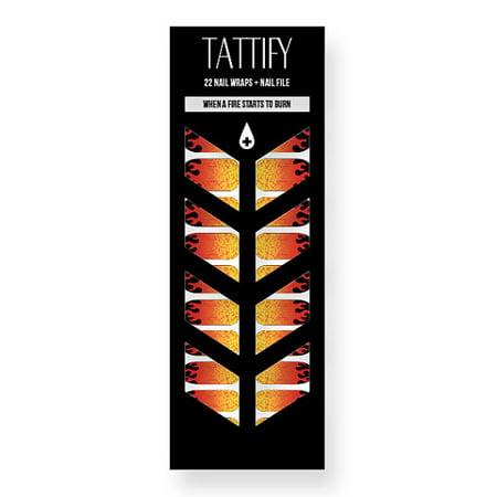 Tattify Flame Nail Wraps - When a Fire Starts to Burn (Set of 22)
