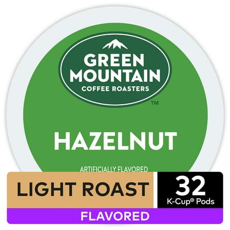 Dark Roast Hazelnut Coffee - Green Mountain Coffee Hazelnut, Flavored Keurig K-Cup Pod, Light Roast, 32 Ct