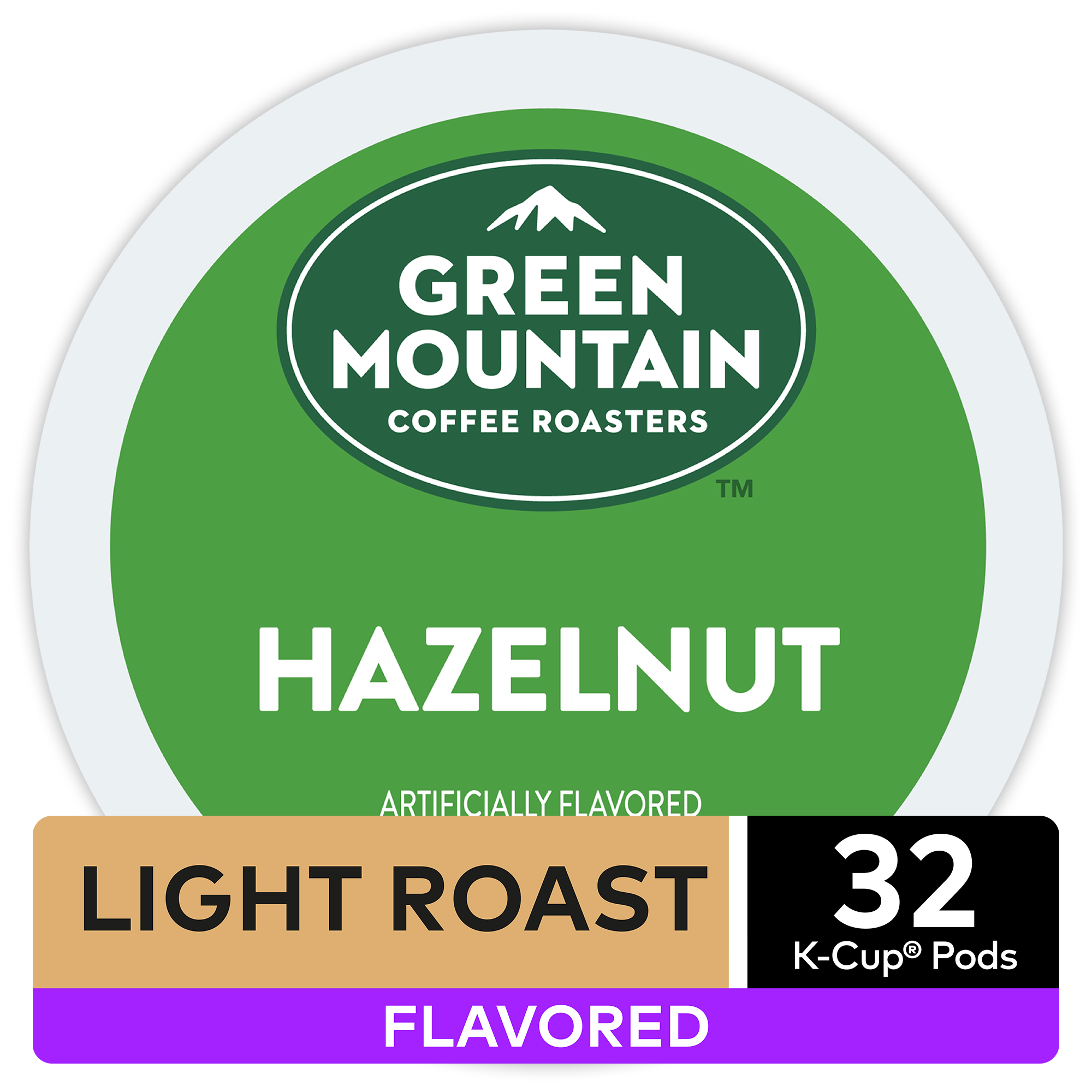 Green Mountain Coffee Hazelnut, Flavored Keurig K-Cup Pod, Light Roast, 32 Ct