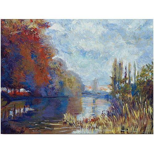 "Trademark Art ""Argenteuil on the Seine"" Canvas Wall Art by David Lloyd Glover"