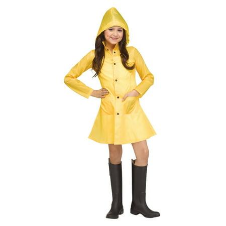 Will It Rain On Halloween (Halloween Girl's Yellow Raincoat)