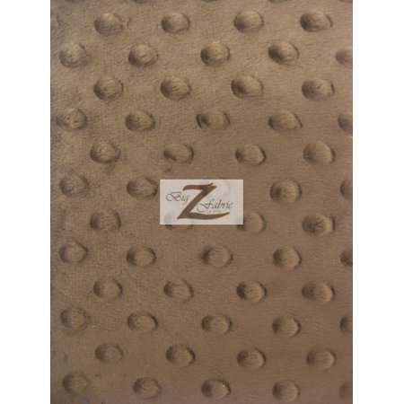 Brown Minky Dot (Minky Dimple Dot Baby Soft Fabric / Brown / Sold By The Yard)