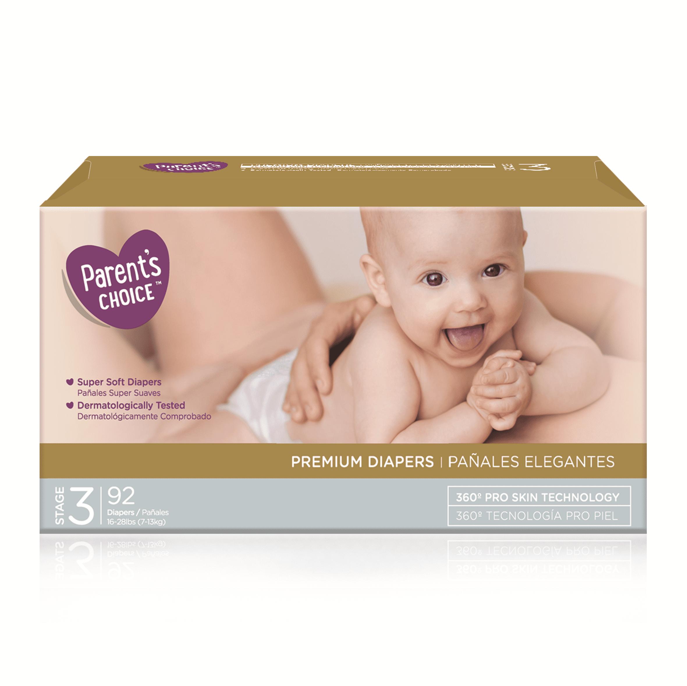Parent's Choice Premium Diapers (Choose Size & Count)