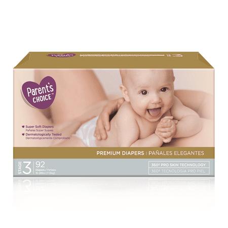 Parent's Choice Premium Diapers, Size 3, 92 Diapers