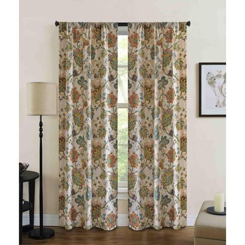 Richloom Home Fashions Jubilee Floral Rod Pocket Curtain