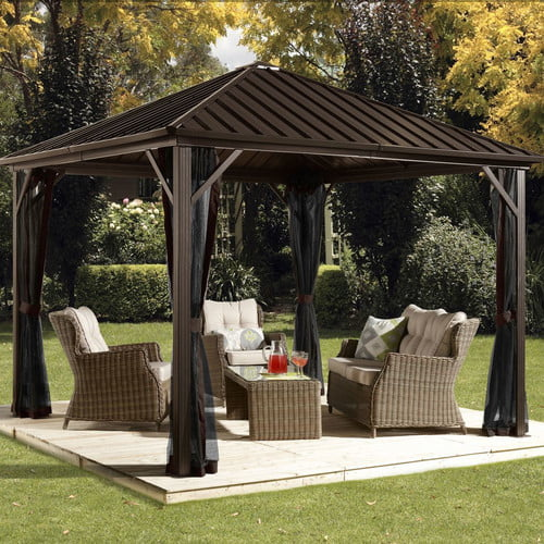 Sojag Dakota 12 Ft. W x 10 Ft. D Metal Permanent Gazebo by Sojag
