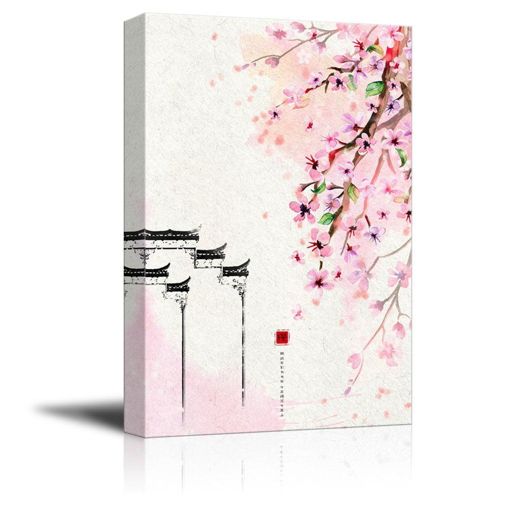 Giclee Print Modern Wall Decor Cherry Blossom 32x48 inches Canvas Art