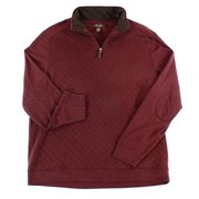 Tasso Elba NEW Red Mens Size XL Quarter Zip Pullover Quilted Knit Sweater