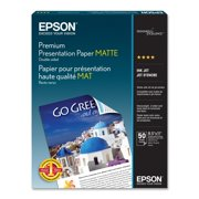"""Epson S041568 DOUBLE SIDED MATTE PAPER, 8.5""""X 11"""", S041568 DOUBLE SIDED MATTE PAPER, 8.5""""X 11"""","""