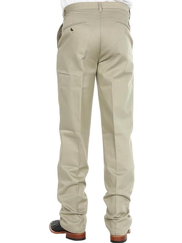 Wrangler Mens Riata Flat Front Relaxed Fit Pants - Khaki