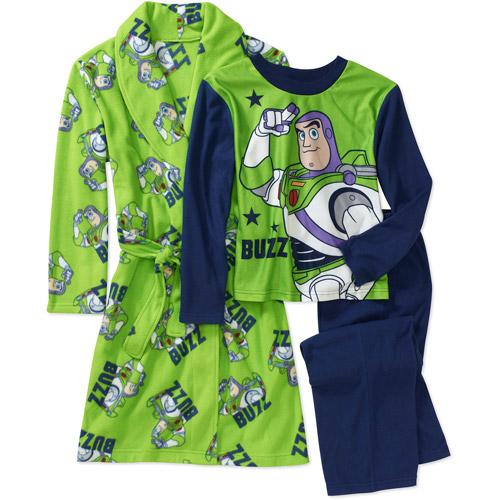 Disney Boys' Toy Story 3 Piece Pajamas And Robe Set