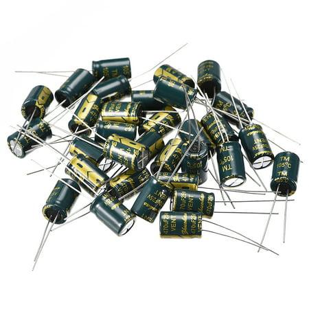 Aluminum Radial Electrolytic Capacitor 470uF 25V Life 8x 12 mm 30pcs 25v Aluminum Electrolytic Capacitor Radial