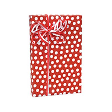 Red and White Birthday / Special Occasion Gift Wrap Wrapping Paper-16ft