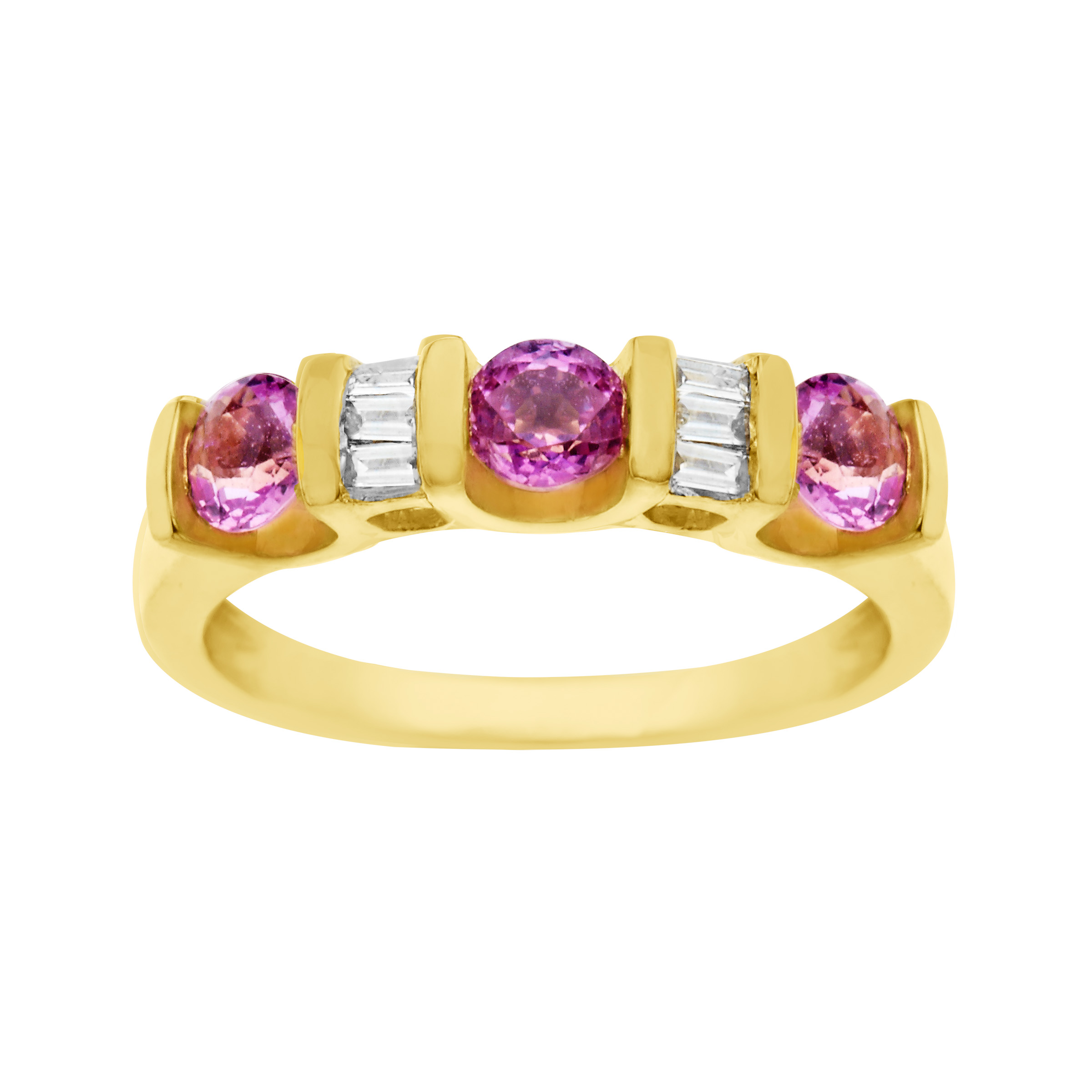 1 ct Pink Sapphire & 1 8 ct Diamond Ring in 14kt Gold by Richline Group