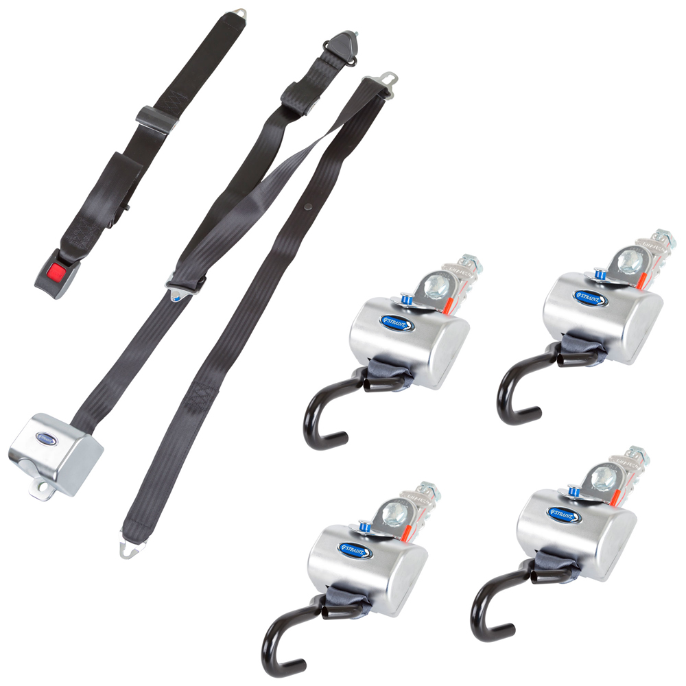 QRT MAX L-Track Retractor Kit with Retractable Belts