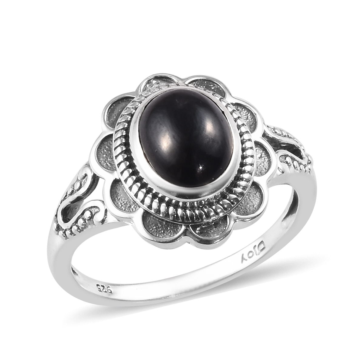 Authentic Endless Sterling Silver Black Pearl Flower Solid 925 Breloque #41250-2