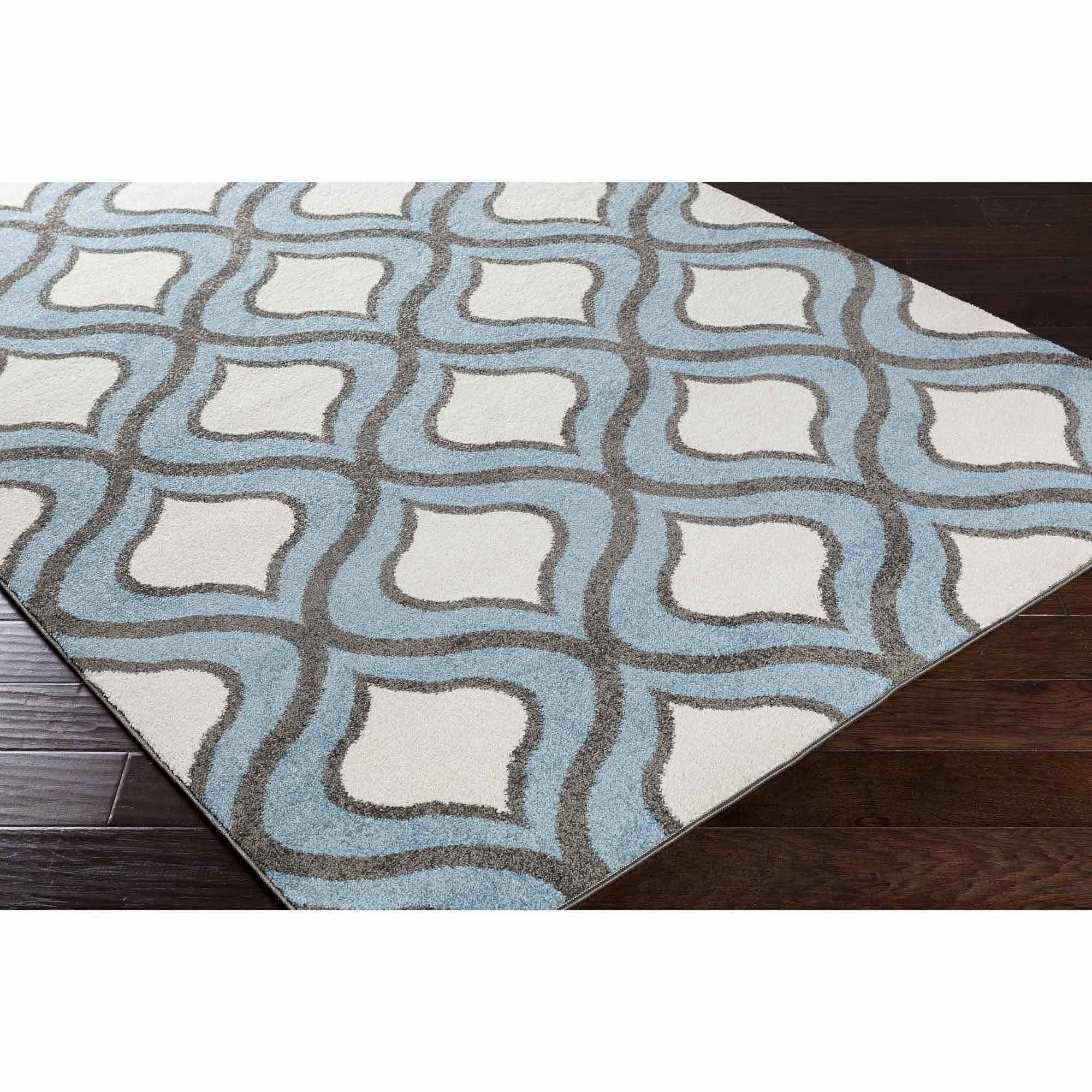 apartment AH Covina Machine Made Geometric Area Rug, Blue
