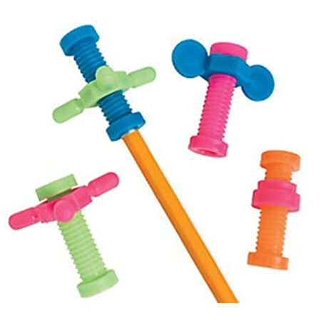 Fidget Pencil Toppers, 48 Count, Keep Hands Busy So Kids Can Focus