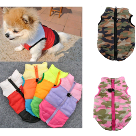 EECOO Pet Cat Dog Clothes Puppy Coat Vest Pet Ski Vest Dogs Cotton Vest Pet Ski Jacket Winter Fall Outfit
