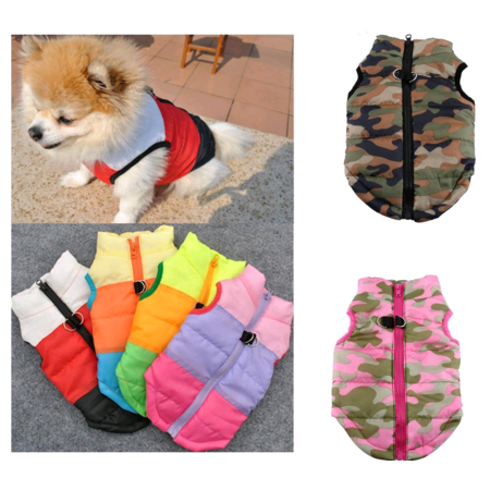 EECOO Pet Cat Dog Clothes Puppy Coat Vest Pet Ski Vest Dogs Cotton Vest Pet Ski Jacket Winter Fall Outfit Waterproof