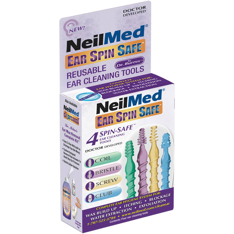 NeilMed Ear Spin Safe Reusable Ear Cleaning Tools, 5 pc