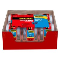 "Scotch Heavy Duty Shipping Packaging Tape Dispensers 6 Pack, 1.5"" Core"