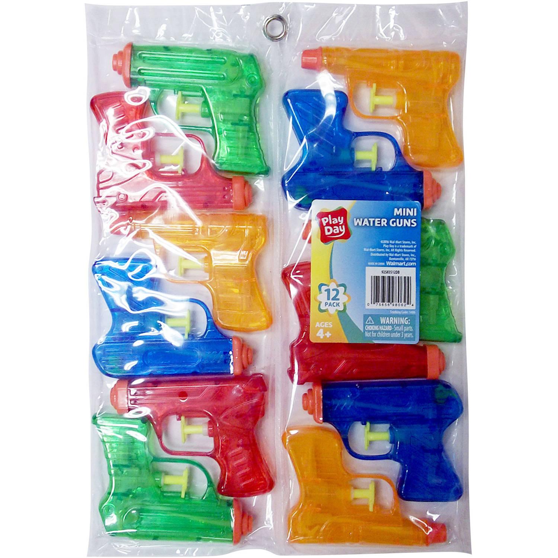 Ja-Ru Playday Mini Water Guns, Pack of 12