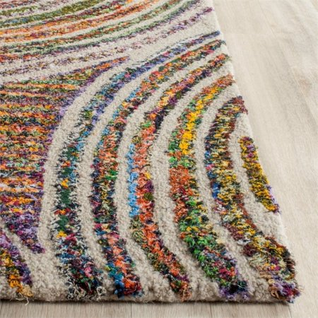 Safavieh Nantucket 9' X 12' Hand Tufted Cotton and Wool Rug in Beige - image 4 de 10