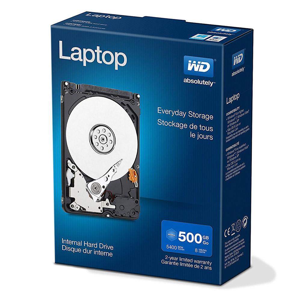"WD Laptop Mainstream SATA 500GB 2.5"" Internal Hard Drive"