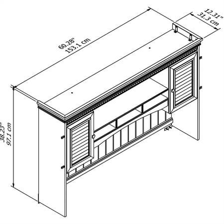 Bush Furniture Fairview Hutch for L Shaped Desk in Antique Black - image 2 de 7