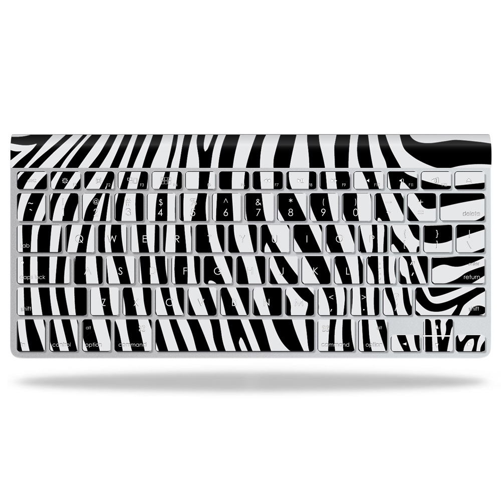 MightySkins Protective Vinyl Skin Decal for Apple Wireless Keyboard wrap cover sticker skins Black Zebra