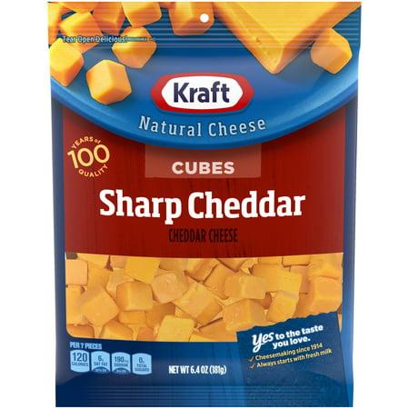 Kraft Sharp Cheddar Cheese Cubes 64 Oz ZIP PAKR