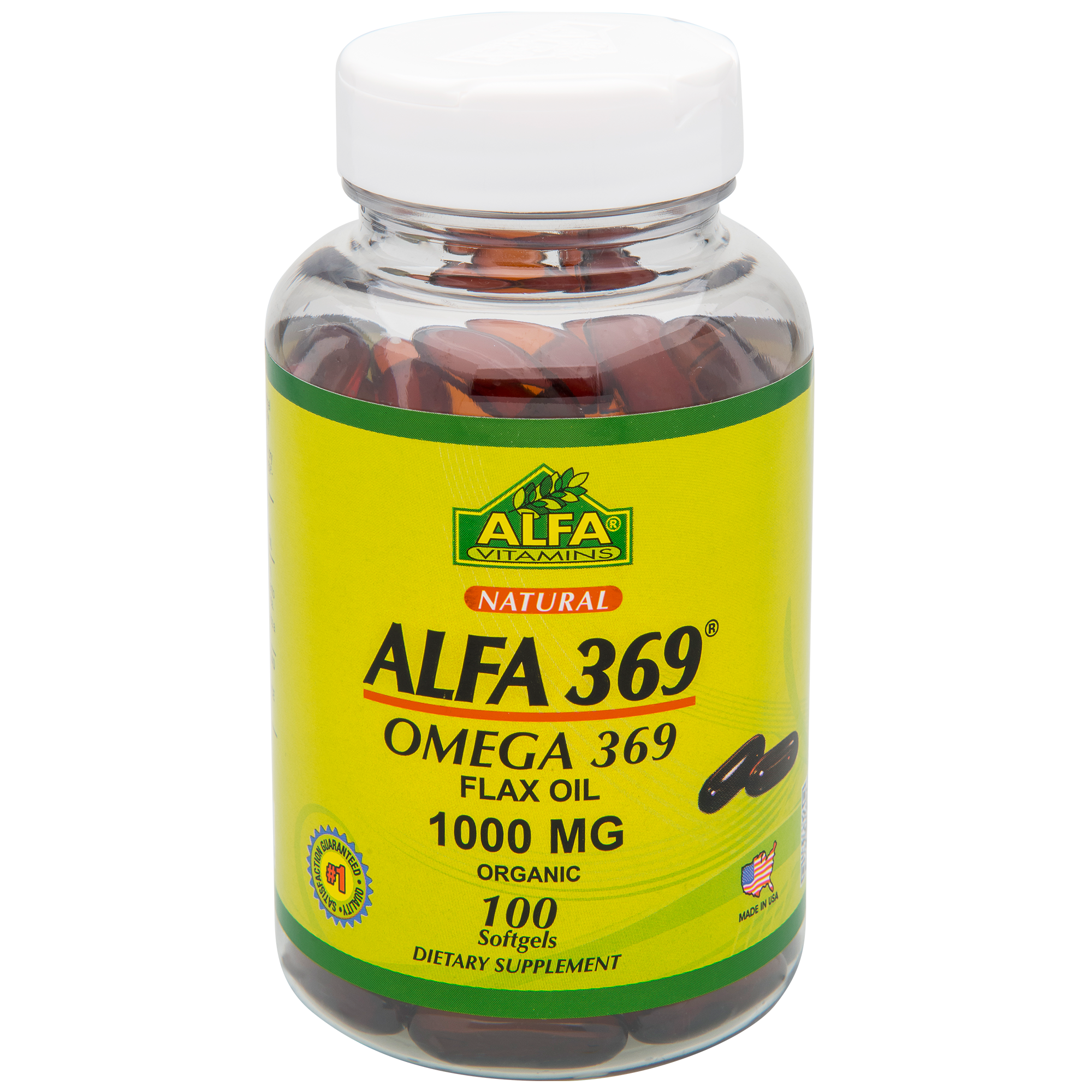 Bulk flax seed for crafts - Alfa Omega 369 Flax Oil 1000 Softgels 100 Ct