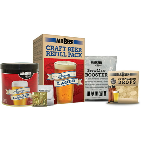 Mr. Beer American Lager Craft Beer Refill Kit, Contains Hopped Malt Extract Designed for Consistent, Simple and Efficient Homebrewing