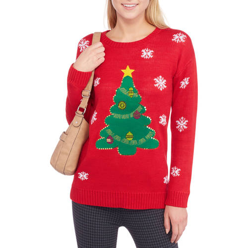Faded Glory Women's Christmas Tree Sweater