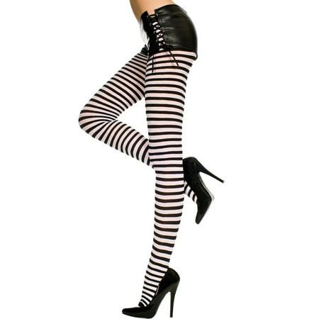 510b550cb25d0 Music Legs - Plus Size Opaque Striped Tights, Plus Size Pantyhose -  Walmart.com