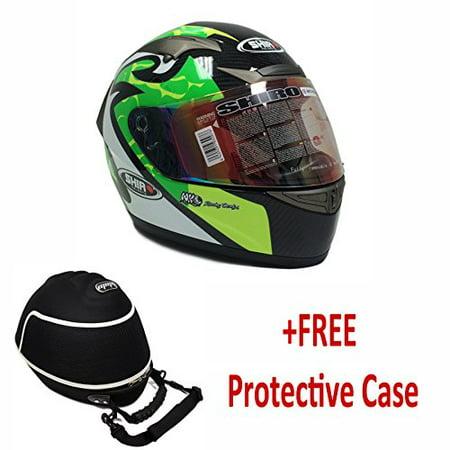Midway Signed Replica Helmet - PREMIUM SHIRO CARBON FIBER Adult Full Face Helmet MotoGP Replica DOT/ECE (+FREE CARE CASE) LARGE