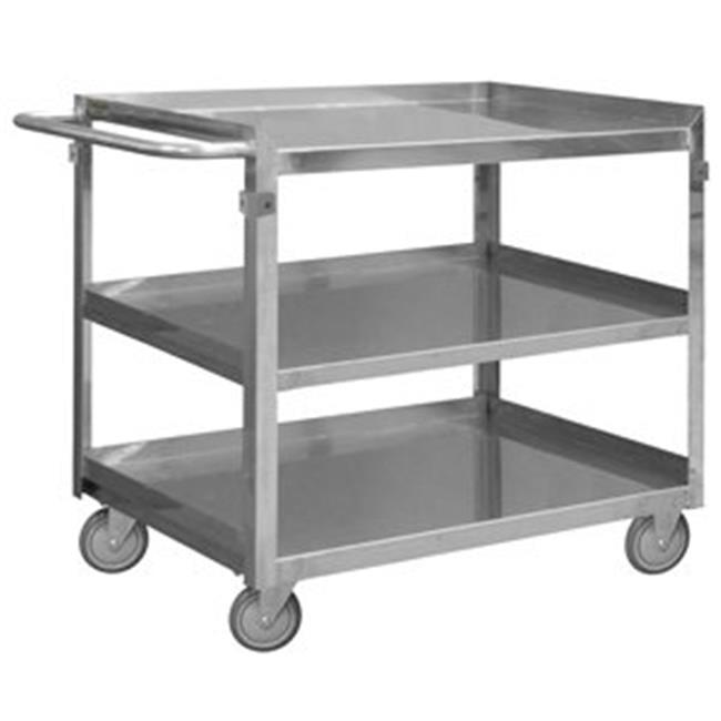 Durham SRSC2016243FLD4PU 34 in. Stainless 3 Shelves Stock Cart - 600 lbs