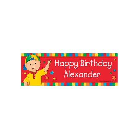 personalized caillou happy birthday banner walmart com