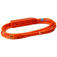 3' Round 3 Outlet Extension Cord Master Electrician 04003TV Orange 052088075302